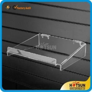 China clear acrylic sliding shoe racks hanging shoe rack acrylic wall mounted storage rack plexiglass shoe store shelf wholesale