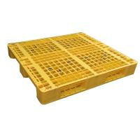 China Euro type HDPE single faced grid 9 feet plastic pallet wholesale