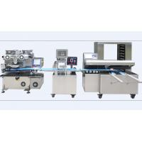 China Mooncake Filled Encrusting Machine , High Automation Cookies Production Line wholesale
