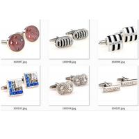 China Square Stainless Steel Cufflinks Crystal Rhinestone Sliver Plating Fitting Accessories wholesale