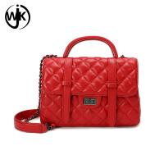 China Guangzhou factory custom leather bag woman bags luxury handbag import leather lambskin handbag wholesale