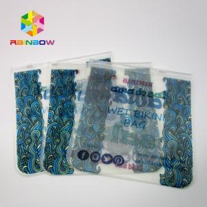 China Transparent PVC Bag Bikini Bag ,EVA Plastic Swimwear Bag With Zipper wholesale