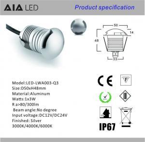 China 3sides 3W outside LED underground light/LED inground light led stair light /LED Garden light wholesale
