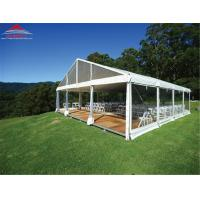China Fire Retardant 20 X 20M Wedding Party Tent With Glass Wall / Colourful Cover wholesale