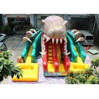 China Dinosaur Water Park Commercial Inflatable Slide With Pool 6 * 4.5 * 5m wholesale