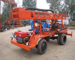 China 20kw 300m Tractor Mounted Water Well Drilling Rig Self Propelled wholesale