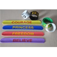 Color ful silicone paipai bangle bracelet silicone slap bracelet with factory price