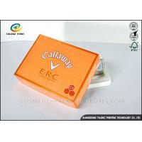 China Foldable Orange Cardboard Gift Boxes For Clothes / Candy / Chocolate wholesale