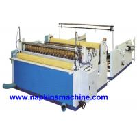 China Nonwoven Paper Roll / Jumbo Roll Slitting Machine To Rewind And Slit Toilet Paper on sale