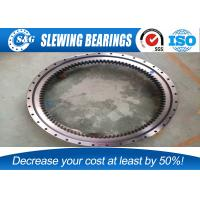 China Electricity Equipment Single Row Slew Ring Bearings , Four Point Contact Ball External Gear wholesale