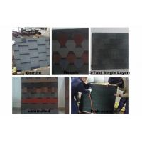 Buy cheap Fiber-Glass Asphalt Roofing Shingles / 5 Types 1000mm × 333mm For Wood House from wholesalers