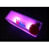 China Color Changing LED Ice Bucket Rectangle 5V 1A Battery LED Champagne Bucket wholesale