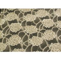 China Eco-Friendly Brushed Lace Fabric Yellow  wholesale