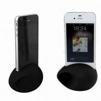 China Novelty Speakers for iPhone 4S/4, Silicone Material, Egg Design, Various Colors Available wholesale