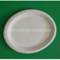 China Biodegradable Disposable Sugarcane Pulp Paper Plate, Oval Plate wholesale