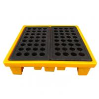 China High Density Poly 4 Drum Spill Containment Pallets Leak Proof For Drum Tank wholesale