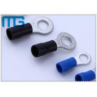 China Corrosion Resistance Blue / Black Copper Ring Terminals A.W.G. 14 - 12  / 16-14 wholesale