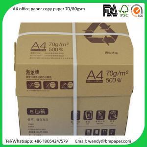 China Sample free Original Paper Copy A4 A3 Paper 80 Gsm 75 Gsm 70 Gsm Copy Paper wholesale