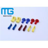 China 12 - 10 AWG Wire Connectors Yellow Color Quick Splice Wire Crimp Terminals Open Barrel Terminals wholesale