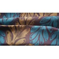 China Microfiber Beachwear Fabric Paper Printed Polyester Satin W/R Finish 150GSM wholesale
