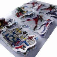 China Ultraman 3D layers handmade laser sticker, various designs are available, customized sizes accepted wholesale
