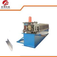 China Galvanized Steel V Angle Roll Forming Machine , 30 Size C&Z Purlin Forming Machine on sale