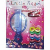 Buy cheap Children's Hair Accessory Set with Mirror, Hair Comb/Clip and Elastic Band from wholesalers