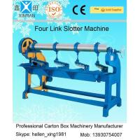 China Adjustment Carton Box Making Machine 1.5kw with Four Links Slotter , 3000mm Width wholesale