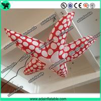 China Sea Event Inflatable Animal Giant Inflatable Cartoon Red Inflatable Starfish wholesale