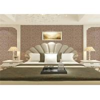 China Wet Embossed Non Pasted Bedding Room European Style Wallpaper 0.53*10m wholesale