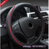 China Peru hot sell black red M size S size L size car steering wheel covers wholesale