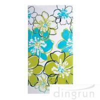 China Premium Cotton Custom Printed Beach Towels Colorful Flower OEM Available wholesale