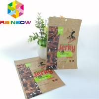 China Glossy Surface Printing Aluminum Foil Bag Beef Jerky Bags Dried Food Packaging With Roun wholesale