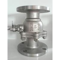 China 2PC Flanged Ball Valve SS316 ANSI B16.10 Flanged OD BS4504 undrilled wholesale