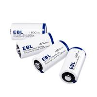 China EBL 4 Pack Lithium CR123A 3V Batteries 1600mah , Battery Case Included Eco-friendly Battery wholesale