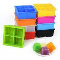 Buy cheap 4pcs Silicone Ice Cube Molds Custom Printing Logo And Custom Embossed Logo from wholesalers