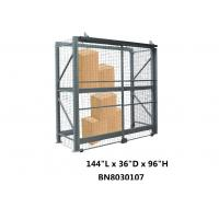 China Visible / Ventilated Wire Mesh Pallet Cages , 8 Gauge Wire Shelving Security Cage wholesale