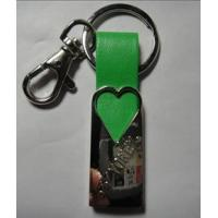 China wholesale custom metal leather key chains rings on sale