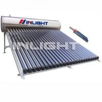 China 20tubes Compact Pressurized Stainless Steel Heat Pipe Solar Water Heaters for Slope Roof on sale