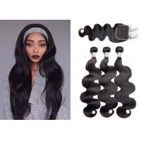 China Queenlife Body Wave Weave Bundles With Closure Machine Double Weft wholesale