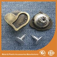 Buy cheap Heart Shape Jeans garment clothes Button with Zinc And Brass Material from wholesalers