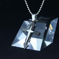 Quality Fashion Top Trendy Stainless Steel Cross Necklace Pendant LPC266 for sale