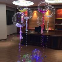 Buy cheap Hot sell party decoration bobo balloon light halloween wedding led light up balloons from wholesalers