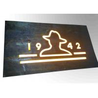 Buy cheap Custom Resin Illuminated Wooden Signs Wall Mounted Decoration Bar Sign Used from wholesalers