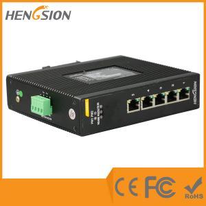 China 5 Port 1000Base Ethernet Industrial Gigabit Ethernet Switch 9-36VDC / 9-36VAC wholesale