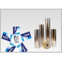 Vacuum Metallic Foil Paper Single Sided Coating , Easy To Wash Away From Bottles for sale
