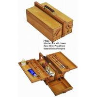 China Commecial Artist Storage Box With Drawer , Wooden Craft Storage Box For Paintings wholesale