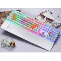 China Waterproof White Color LED Mechanical Keyboard Rainbow Light Keyboard wholesale