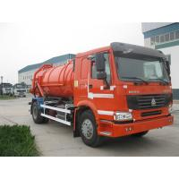China Howo 6x4 23m³ Sewage Vacuum Truck 266HP - 420HP With Air Conditioner wholesale