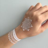 China Temporary White Henna Body Tattoo Sticker wholesale